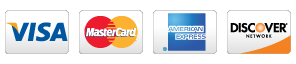 Visa, Mastercard, Discovery, American Express accepted